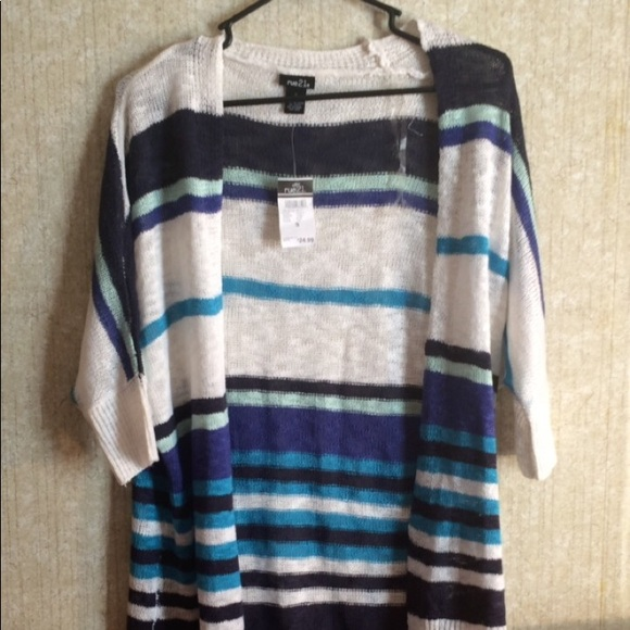 Rue21 Sweaters - Its a Cardigan with strips with white, navy, etc